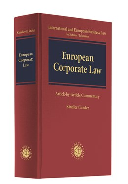 Abbildung von Kindler / Lieder | Corporate Law | 2020 | Article-by-Article Commentary