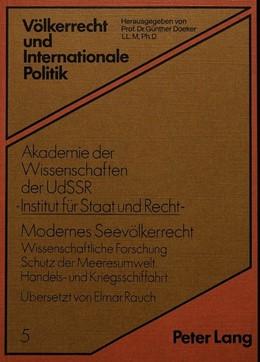 Abbildung von Doeker | Modernes Seevölkerrecht | 1981