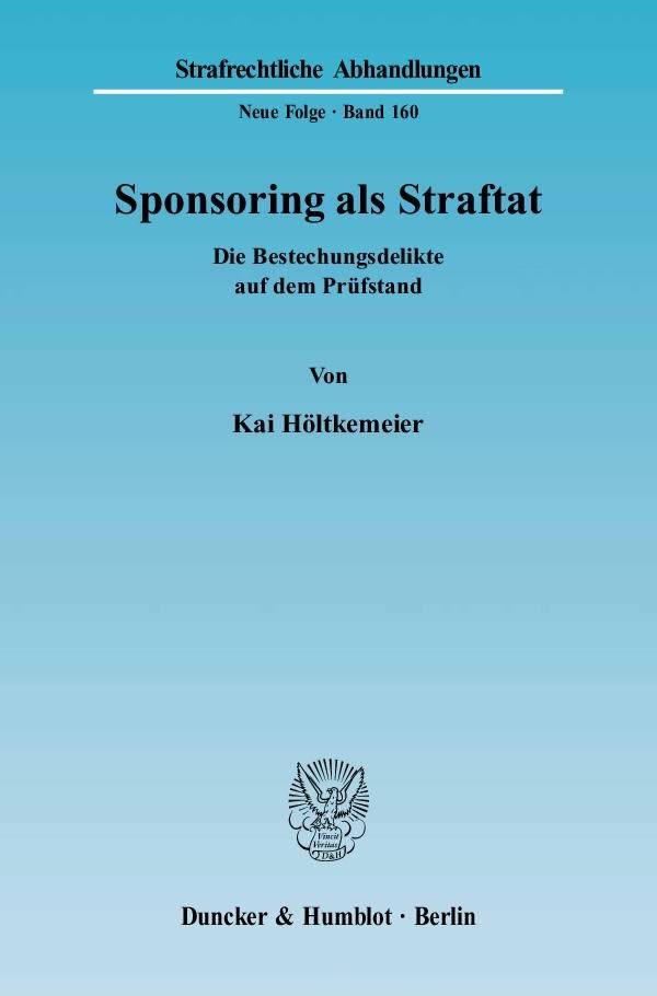 Abbildung von Höltkemeier | Sponsoring als Straftat | 2005
