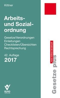 Arbeits- und Sozialordnung 2017   Kittner   Buch (Cover)