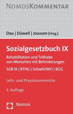 Sozialgesetzbuch IX | Dau / Düwell / Joussen (Hrsg.) | 5. Auflage, 2018 | Buch (Cover)