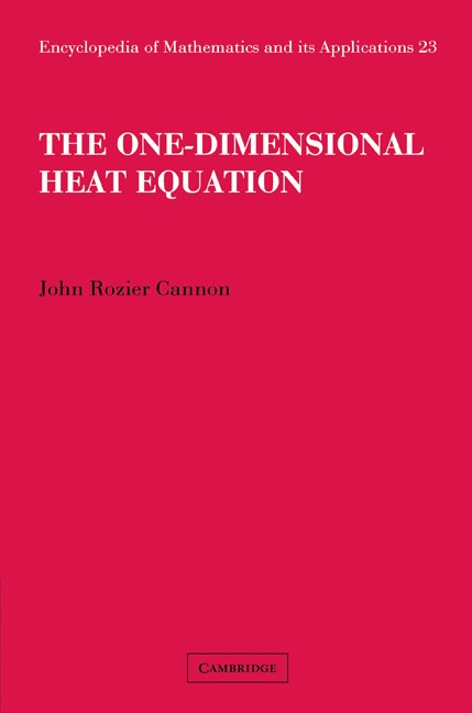 Abbildung von Cannon | The One-Dimensional Heat Equation | 2008