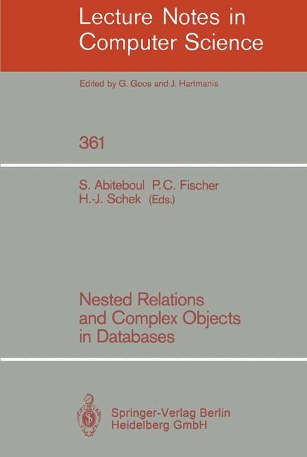 Abbildung von Abiteboul / Fischer / Schek | Nested Relations and Complex Objects in Databases | 1989
