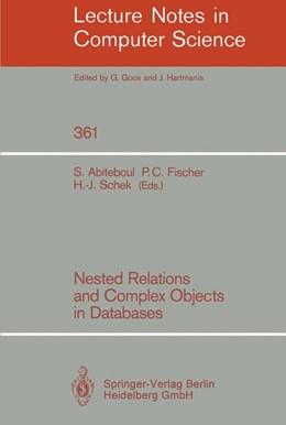 Abbildung von Abiteboul / Fischer / Schek | Nested Relations and Complex Objects in Databases | 1989 | 361