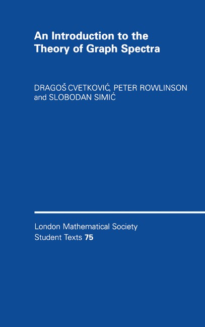Abbildung von Cvetkovic / Rowlinson / Simic   An Introduction to the Theory of Graph Spectra   2009