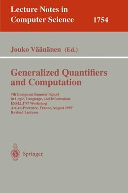 Abbildung von Väänänen | Generalized Quantifiers and Computation | 2000 | 9th European Summer School in ... | 1754