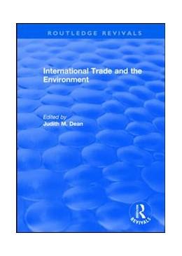 Abbildung von Dean   International Trade and the Environment   1. Auflage   2019   beck-shop.de