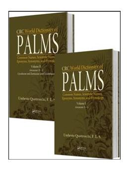 Abbildung von Quattrocchi   CRC World Dictionary of Palms   1. Auflage   2017   beck-shop.de