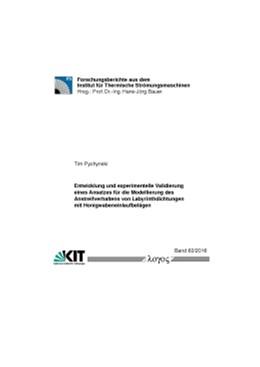 Abbildung von Pychynski | Entwicklung und experimentelle Validierung eines Ansatzes für die Modellierung des Anstreifverhaltens von Labyrinthdichtungen mit Honigwabeneinlaufbelägen | 1. Auflage | 2016 | 63/2016 | beck-shop.de