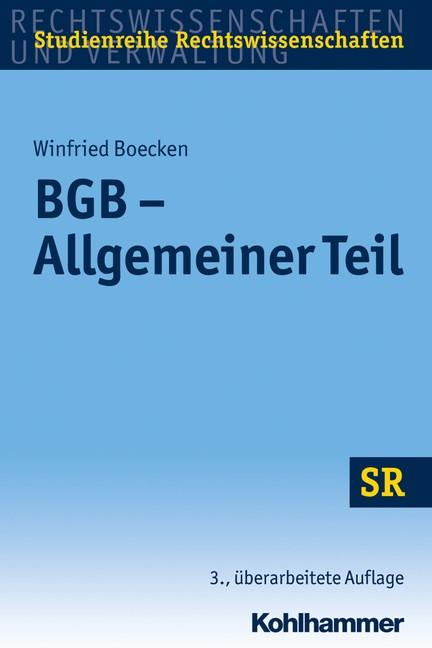 Abbildung von Boecken | BGB - Allgemeiner Teil | 3., überarbeitete Auflage | 2019