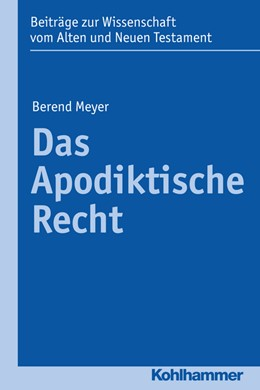Abbildung von Meyer | Das Apodiktische Recht | 2017 | 13