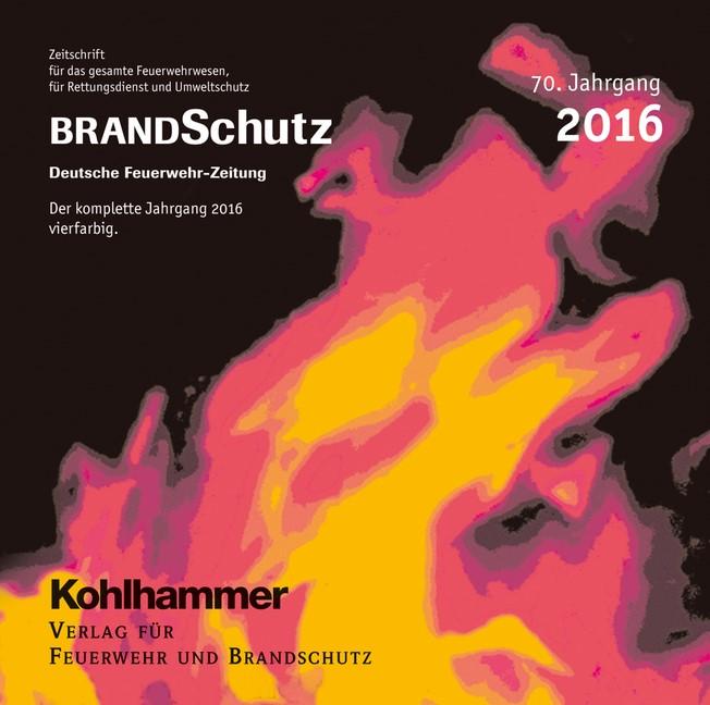 BRANDSchutz 2016 auf CD-ROM | 70. Jahrgang, 2016 (Cover)