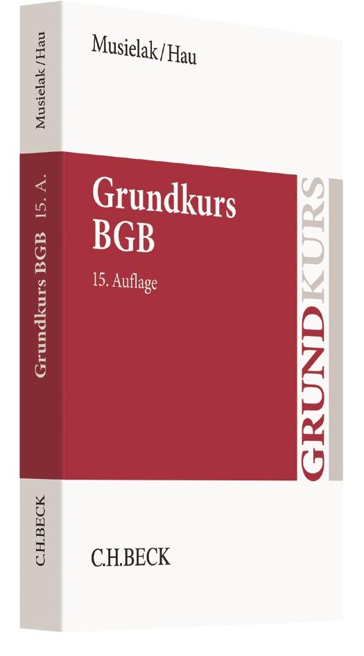 Grundkurs BGB | Musielak / Hau | 15., neu bearbeitete Auflage, 2017 | Buch (Cover)