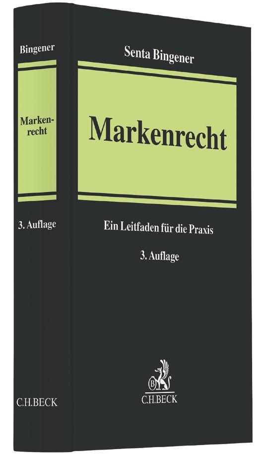 Markenrecht | Bingener | 3. Auflage, 2017 | Buch (Cover)
