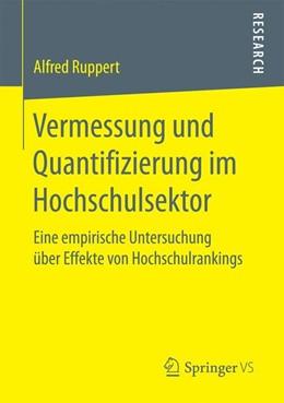 Abbildung von Ruppert | Vermessung und Quantifizierung im Hochschulsektor | 1. Auflage | 2016 | beck-shop.de