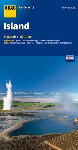 ADAC LänderKarte Island 1 : 600 000   5. Auflage. Laufzeit bis 2021, 2016 (Cover)
