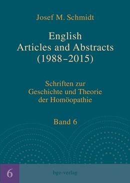Abbildung von Schmidt | English Articles and Abstracts (1988-2015) | 2016 | Schriften zur Geschichte und T...