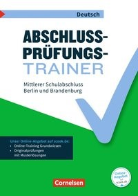 Abschlussprüfungstrainer Deutsch - 10. Schuljahr - Mittlerer Schulabschluss | Brand / Grünes, 2017 | Buch (Cover)