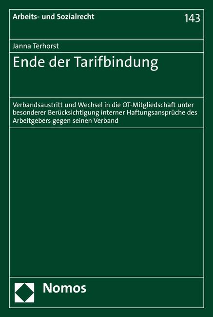 Ende der Tarifbindung | Terhorst (Cover)