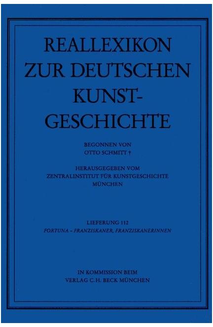 Cover: Otto Schmitt, Reallexikon Dt. Kunstgeschichte  112. Lieferung