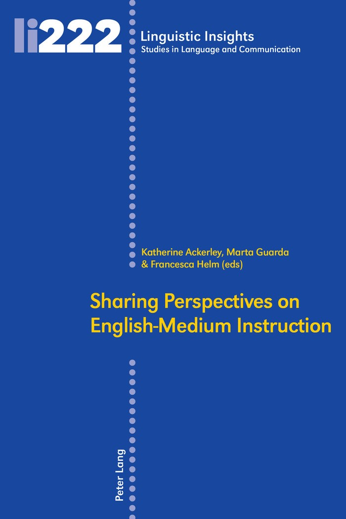 Sharing Perspectives on English-Medium Instruction | Ackerley / Guarda / Helm, 2017 | Buch (Cover)