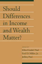 Abbildung von Paul / Miller | Should Differences in Income and Wealth Matter?: Volume 19, Part 1 | 2002
