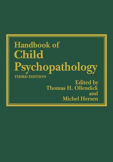Handbook of Child Psychopathology | Ollendick / Hersen | 3rd ed., 1997 | Buch (Cover)