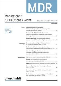 Abbildung von Monatsschrift für Deutsches Recht • MDR | 1. Auflage | 2021 | beck-shop.de