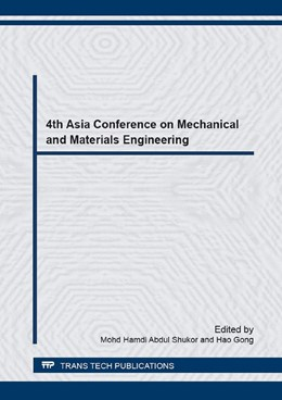 Abbildung von Abdul Shukor / Gong | 4th Asia Conference on Mechanical and Materials Engineering | 2017 | Volume 880