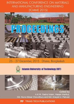 Abbildung von Islam / Mahfuz | International Conference on Materials and Manufacturing Engineering | 1. Auflage | 2017 | Volume 860 | beck-shop.de
