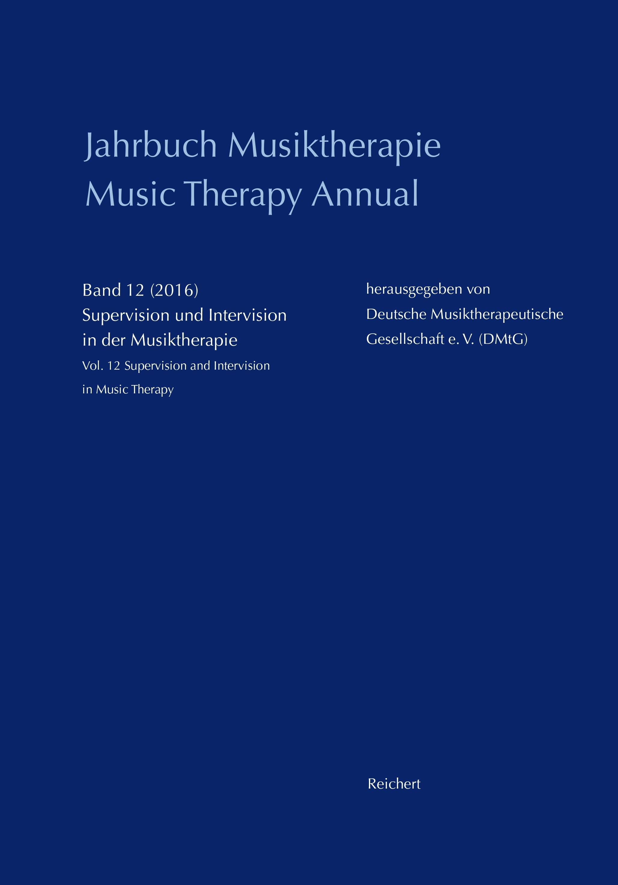 Abbildung von Jahrbuch Musiktherapie / Music Therapy Annual | 2016
