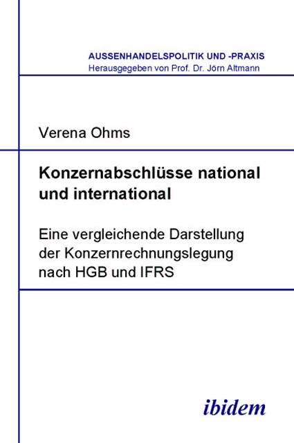 Konzernabschlüsse national und international | Ohms, 2005 | Buch (Cover)