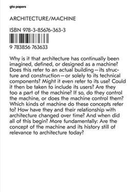 Abbildung von Stalder / Gleich | Architecture / Machine | 1. Auflage | 2017 | beck-shop.de