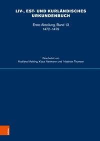 Liv-, Est- und Kurländisches Urkundenbuch, 2017   Buch (Cover)