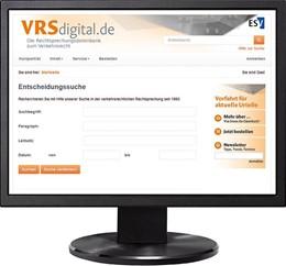 Abbildung von Weigelt (Hrsg.) | VRSdigital - Jahresabonnement | | Die Rechtsprechungsdatenbank z...