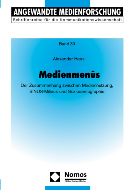 Medienmenüs | Haas, 2009 (Cover)
