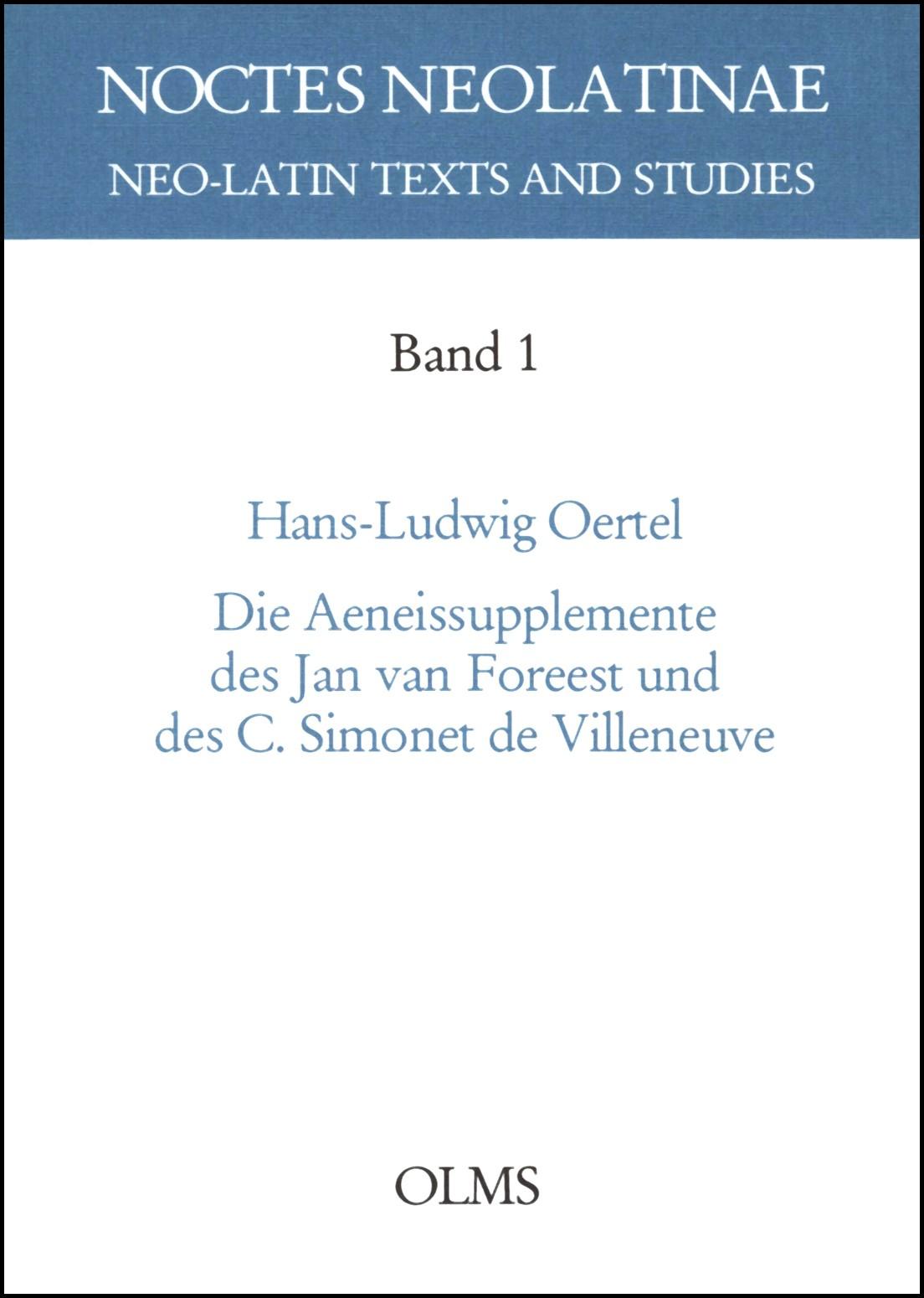 Die Aeneissupplemente des Jan van Foreest und des C. Simonet de Villeneuve | Oertel, 2001 | Buch (Cover)