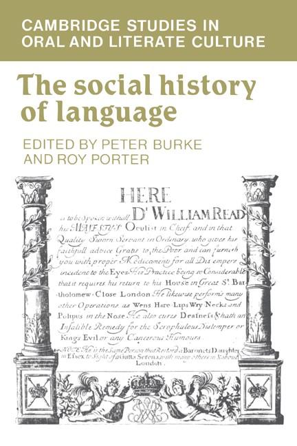 Abbildung von Burke / Porter | The Social History of Language | 1987
