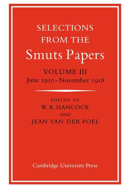 Abbildung von Hancock | Selections Smuts Papers 3 | 2007