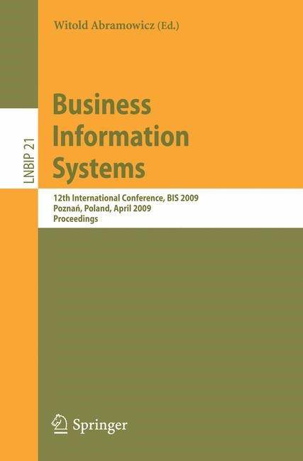 Business Information Systems | Abramowicz, 2009 | Buch (Cover)
