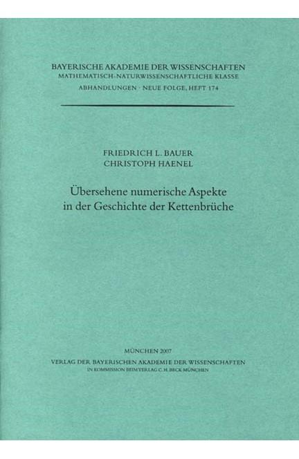 Cover: Christoph Haenel|Friedrich L. Bauer, Übersehene numerische Aspekte in der Geschichte der Kettenbrüche