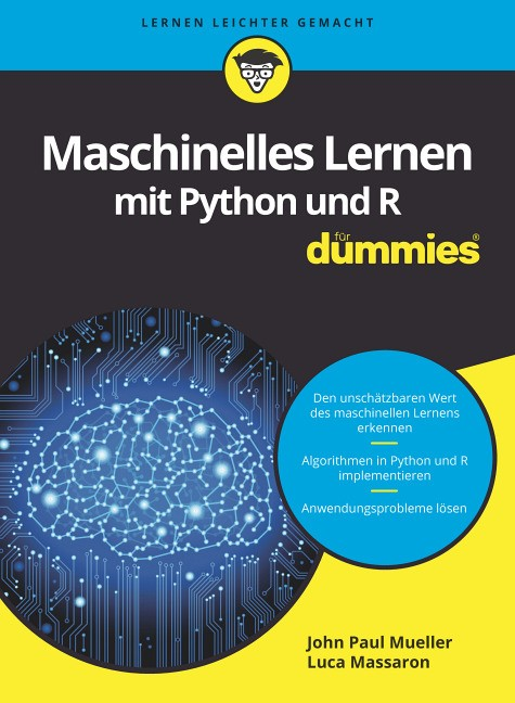 Maschinelles Lernen mit Python und R für Dummies   Mueller / Massaron, 2017   Buch (Cover)