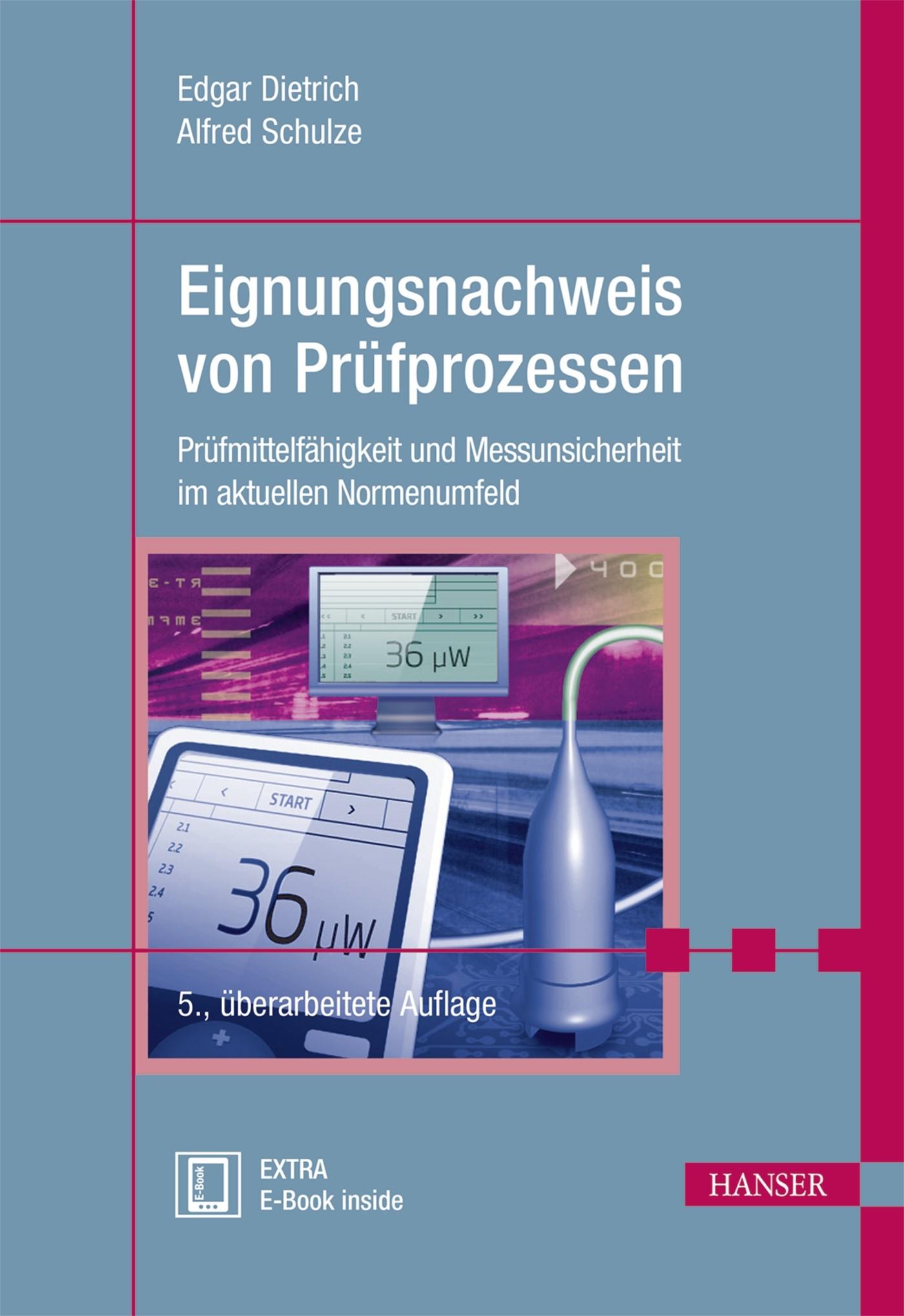 Eignungsnachweis von Prüfprozessen | Dietrich / Schulze | 5., überarbeitete Auflage, 2017 | Buch (Cover)