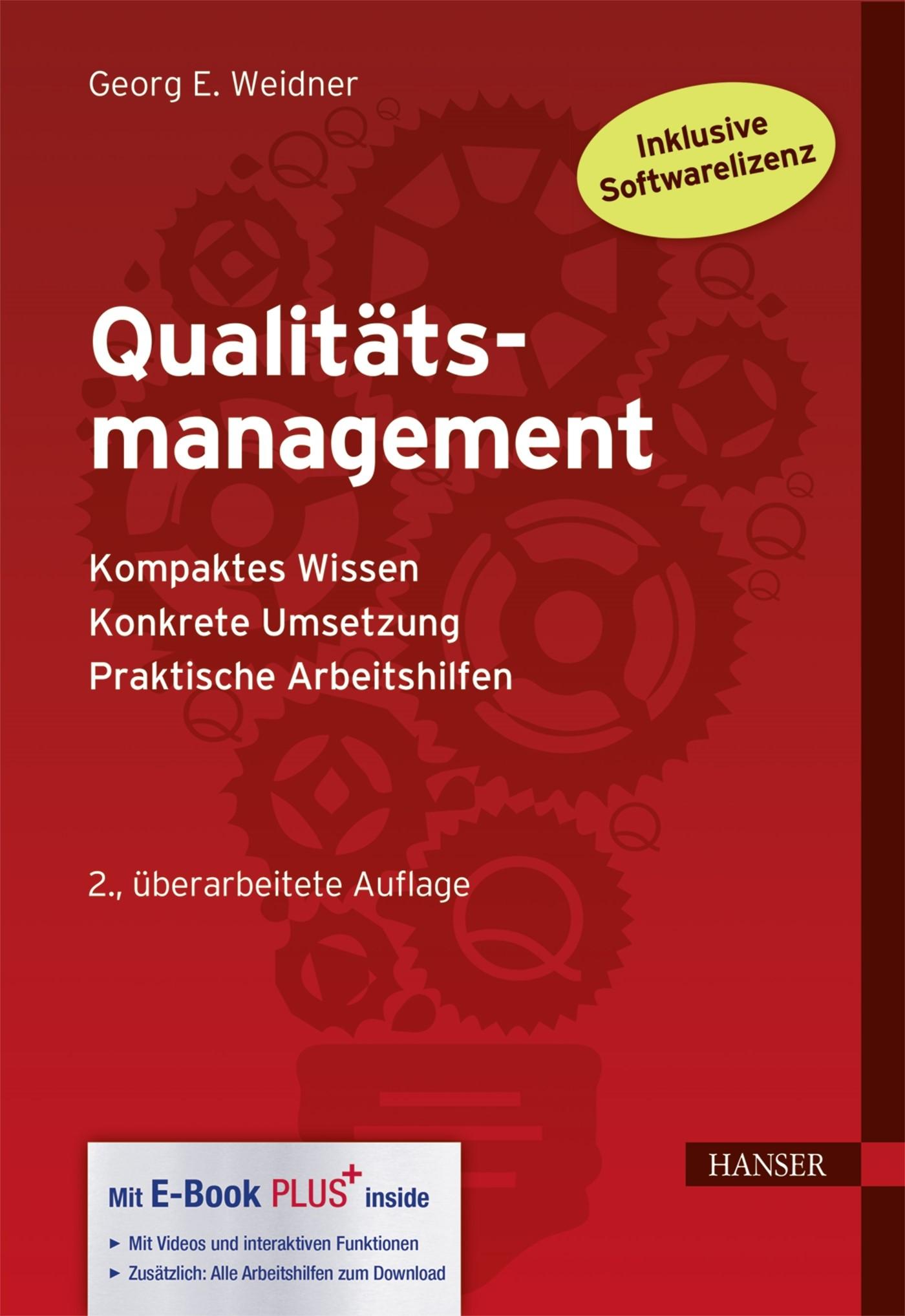 Qualitätsmanagement | Weidner | 2. Auflage, 2017 (Cover)