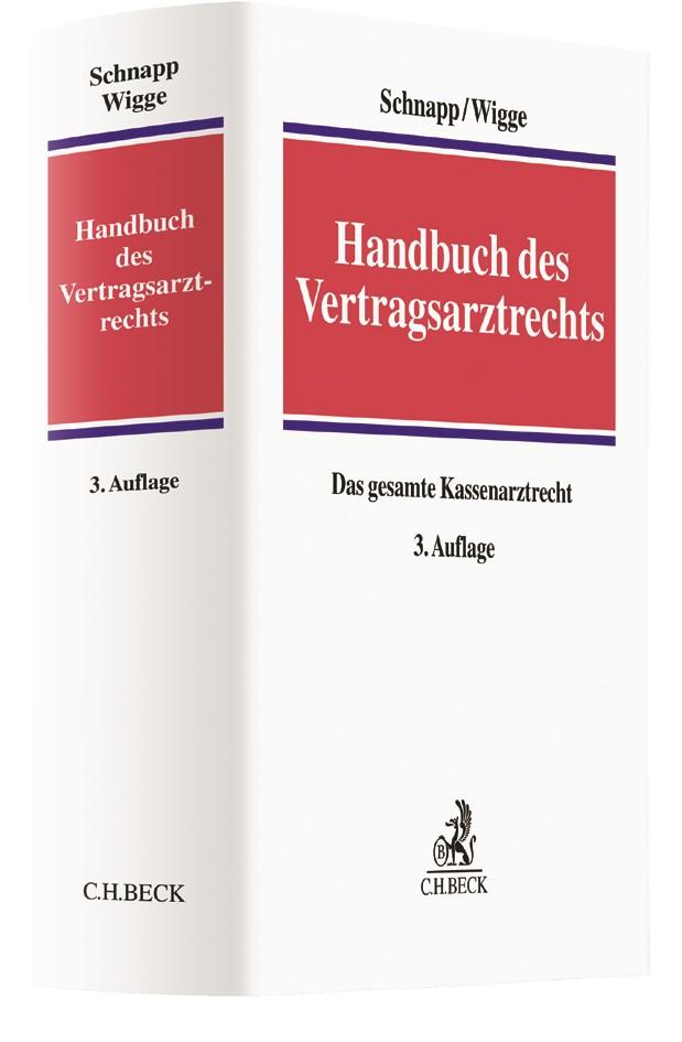 Handbuch des Vertragsarztrechts | Schnapp / Wigge | 3. Auflage, 2017 | Buch (Cover)