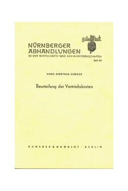 Abbildung von Senger | Beurteilung der Vertriebskosten. | 1. Auflage | 1963 | 20 | beck-shop.de