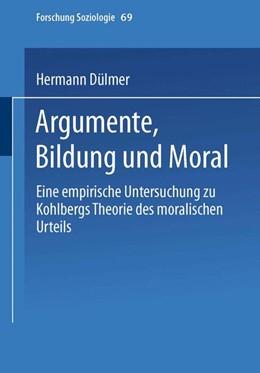 Abbildung von Dülmer | Argumente, Bildung und Moral | 2000 | Eine empirische Untersuchung z... | 69