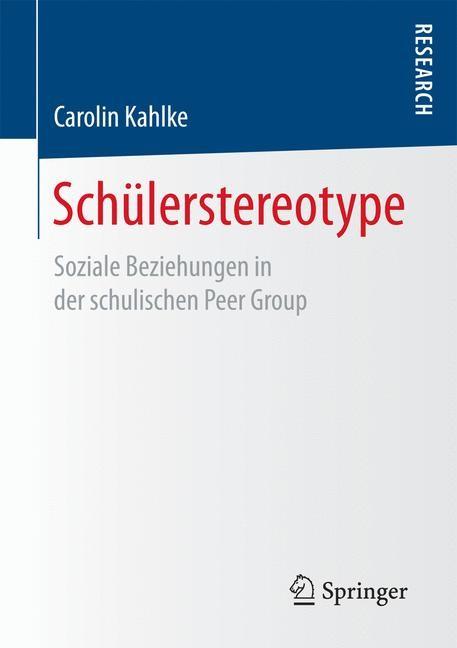 Schülerstereotype | Kahlke, 2016 | Buch (Cover)
