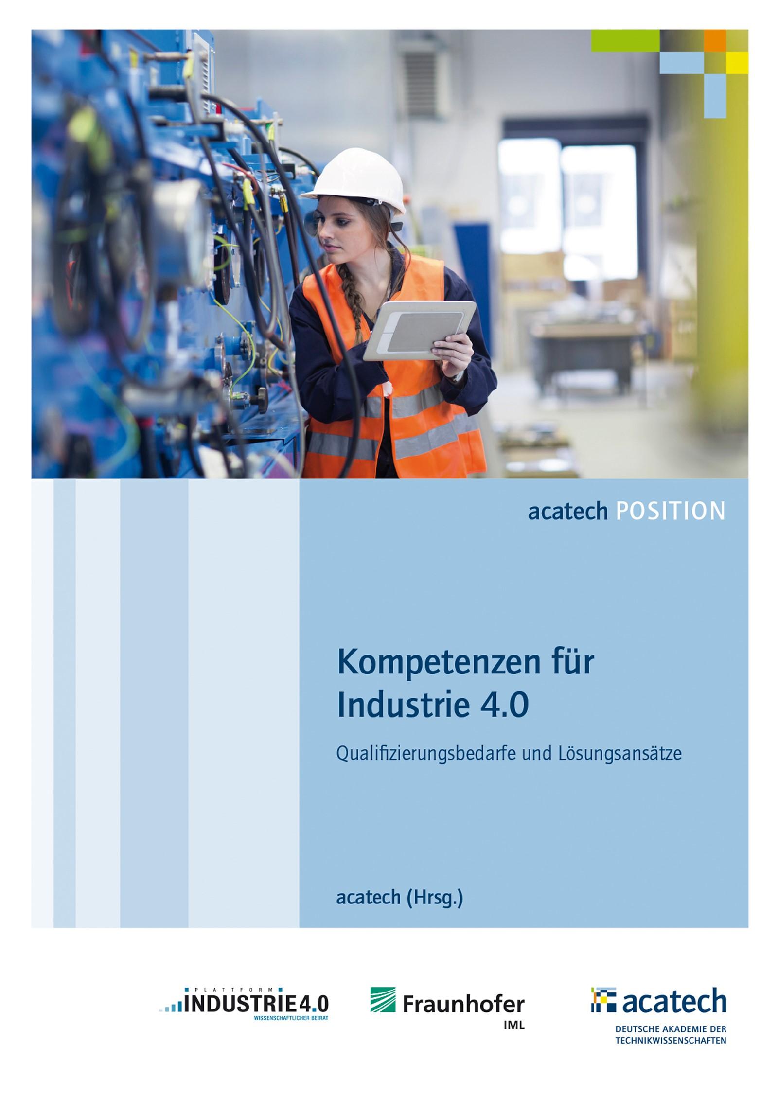 Abbildung von acatech   Kompetenzen für die Industrie 4.0   2016