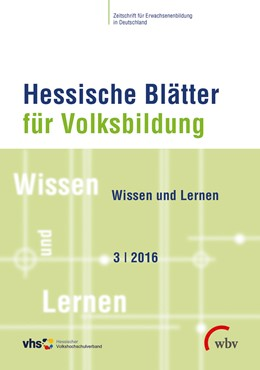 Abbildung von Hessische Blätter für Volksbildung 03/2016 | 1. Auflage | 2016 | beck-shop.de